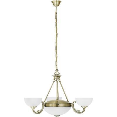 Lámpara de colgar Savoy 3 luces 60W E27 bronce