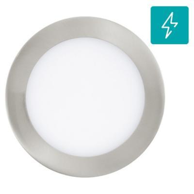 Panel embutido Fueva redonda satín 5,5W led luz cálida