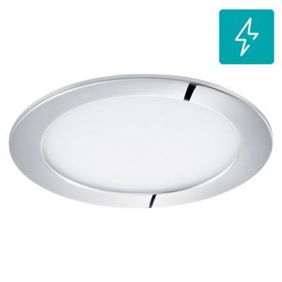 Panel embutido para baño Fueva redonda cromo 11W led luz fría