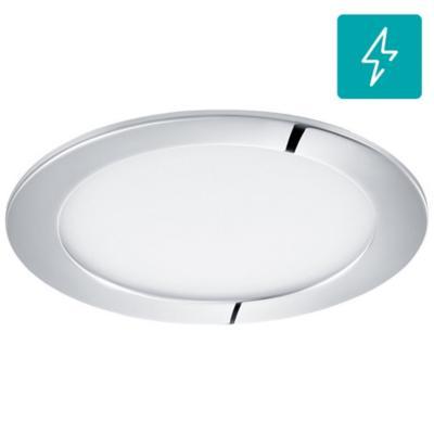 Panel embutido para baño Fueva redonda cromo 11W led luz cálida