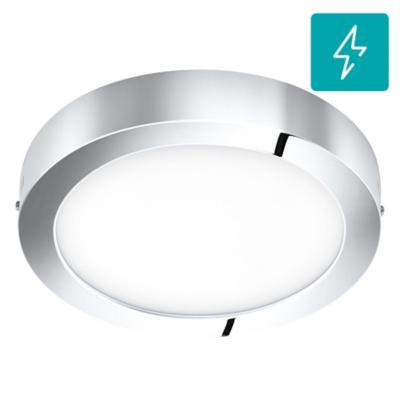 Panel sobrepuesto para baño Fueva redonda cromo 22W led luz cálida