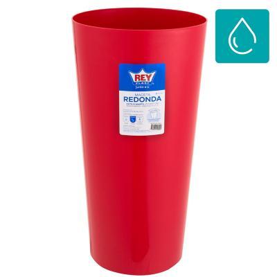 Macetero autorregante redonda 30x57 cm estilo marfil rojo