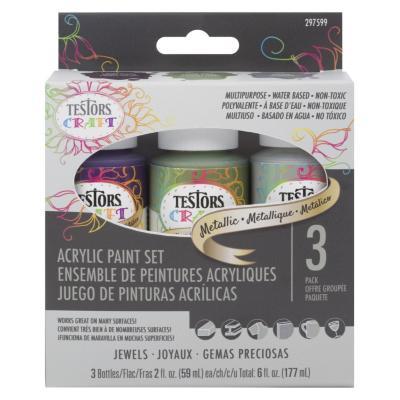 Set 3 Pintura acrílica color metálico
