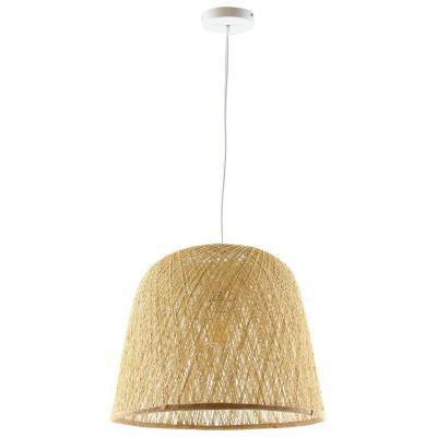 Lámpara de colgar fibra natural Rattern natural E27