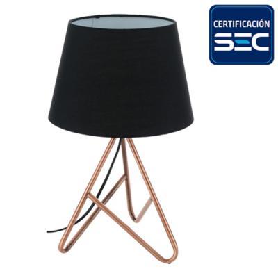 Lámpara mesa 1 luz E14 cobre