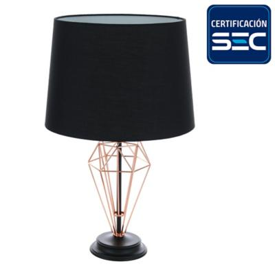 Lámpara mesa 1 luz cobre