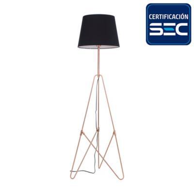 Lámpara mesa 1 luz negra