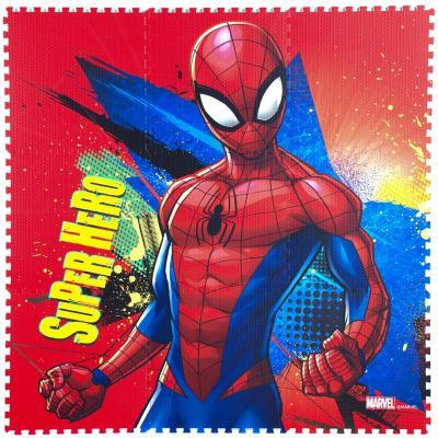Alfombra spiderman goma eva 9 piezas