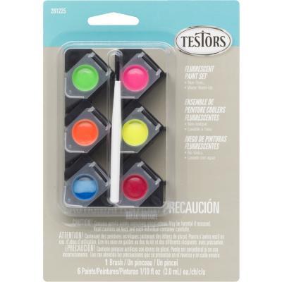 Set pintura acrílica color fluorescente