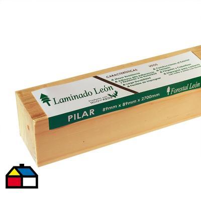 Pilar Laminado pino Radiata 89 x 89 mm 2,70 m