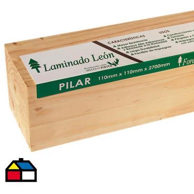 Pilar Laminado pino Radiata 110 x 110 mm 2,70 m