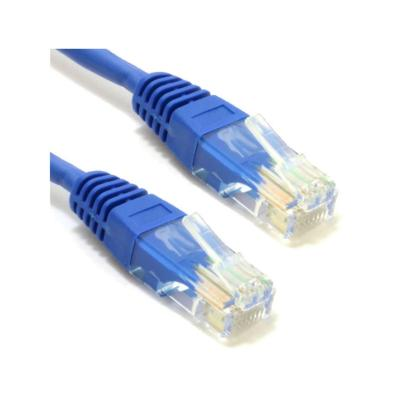 Cable patch cord cat5e 1 mts azul
