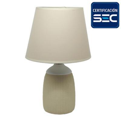Lámpara mesa cerámica 36 cm crema