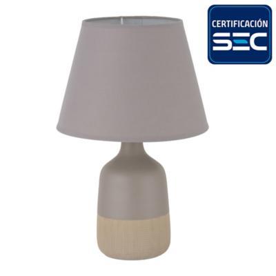 Lámpara sobremesa cerámica 42 cm café