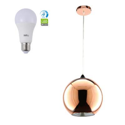 Combo Lámpara de Colgar 1L E27 + Ampolleta LED A60 11.5W E27
