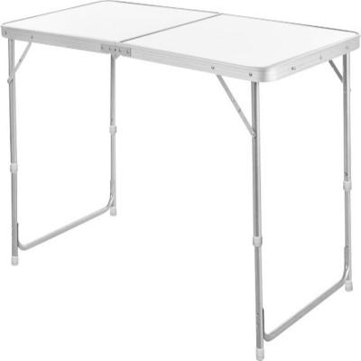 Mesa plegable aluminio blanco