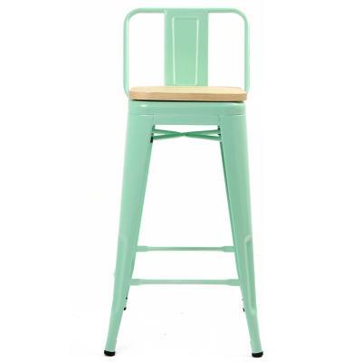 Piso respaldo bajo verde asiento madera 77 cm