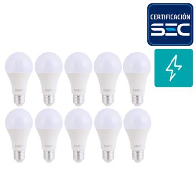 Pack 10 focos led A60 10,5 W E27 LC