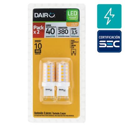 Pack 2 Ampolletas led G9 3.5W LC