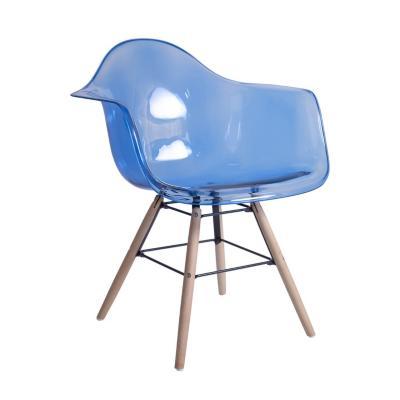 Sitial nórdico eames transparente azul