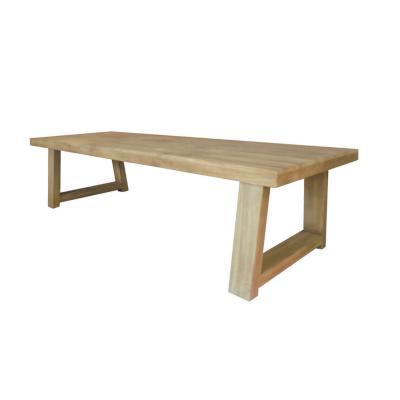 Mesa log madera de teca 300x110 cm