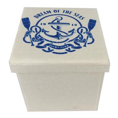 Caja plegable tipo taburete náutico