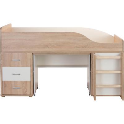 Camarote escritorio 205,8x117x113,5cm blanco/roble ak