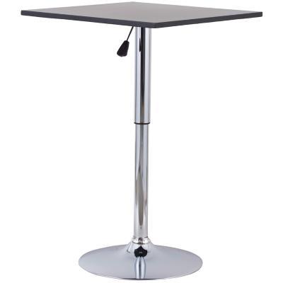 Mesa bar 60x60 cm cromada negro