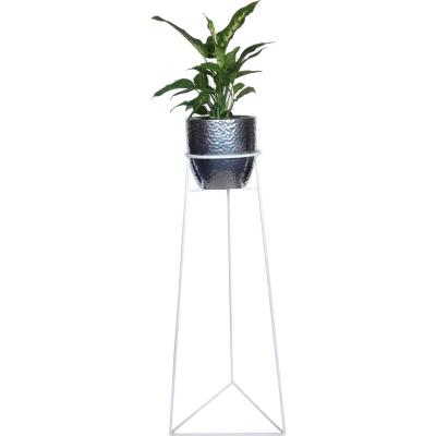 Portaplanta Triangular 60 cm blanco