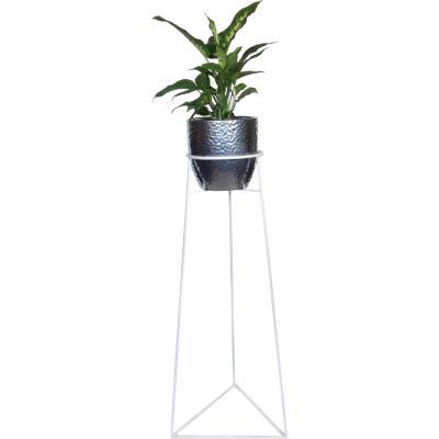 Portamacetero de Metal Triangular 80 cm Blanco