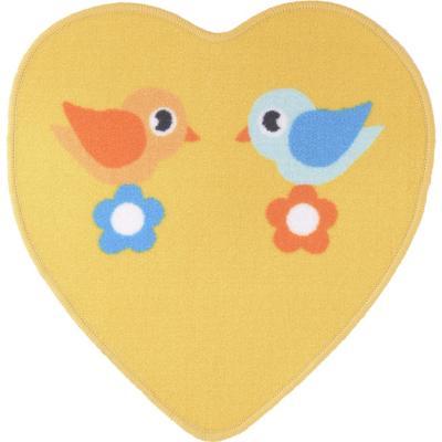 Alfombra kids corazón 57x57 cm amarillo