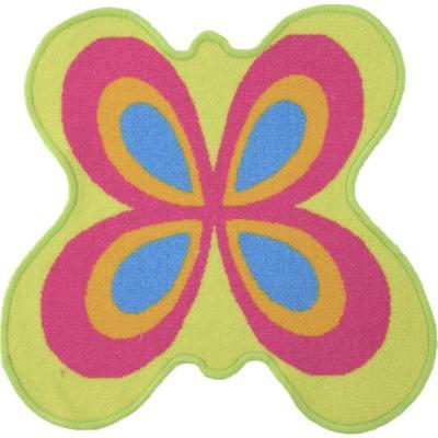 Alfombra kids mariposa 57x57 cm rosada