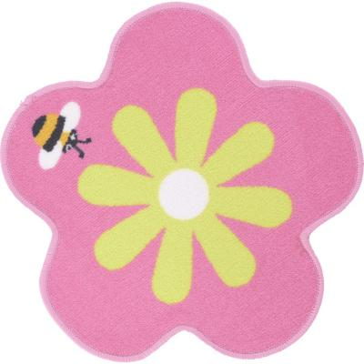 Alfombra kids flor 57x57 cm rosada