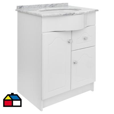 Mueble vanitorio 61x82x48 cm Blanco