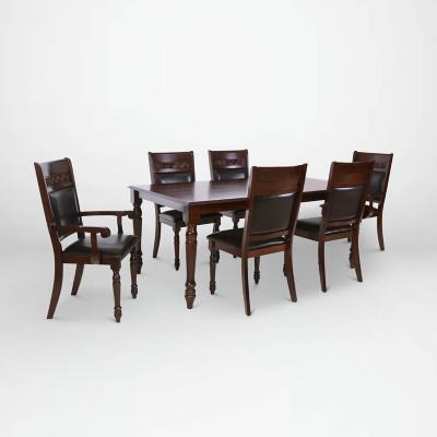 Juego de comedor 4 sillas +  2 sitiales 180x106 Chocolate