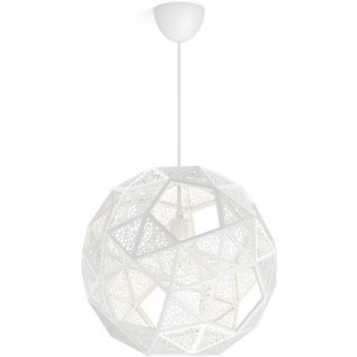 Lámpara de colgar Sintetico Dowlas Blanca