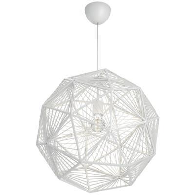 Lámpara de colgar Sintetico Mohair Blanca
