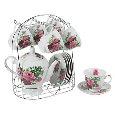 Set de té tetera + taza + plato