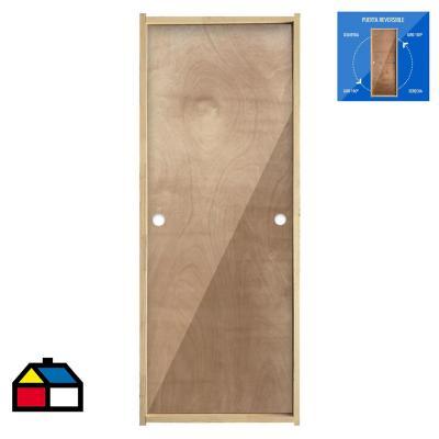 Puerta Terciado Precolgada Dual  65 x 200cm