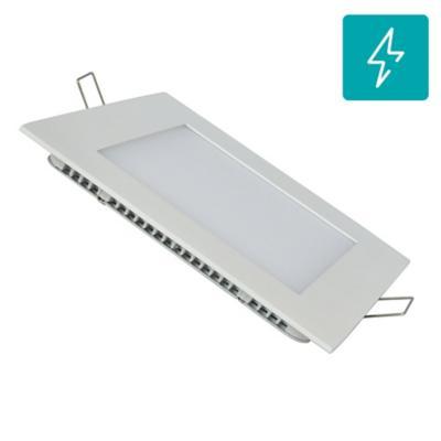 Panel LED embutido cuadrado 12W frío