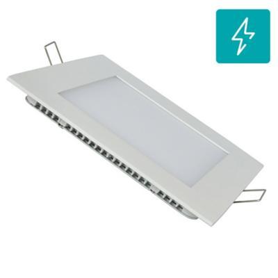 Panel LED embutido cuadrado 18W frío