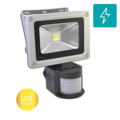 Foco exterior led con sensor smd 10w luz cálida