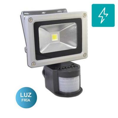 Foco exterior led con sensor smd 10w luz blanca