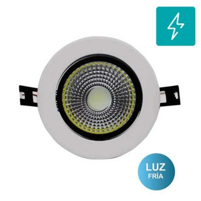 Foco led embutido modelo cob 7w luz blanca