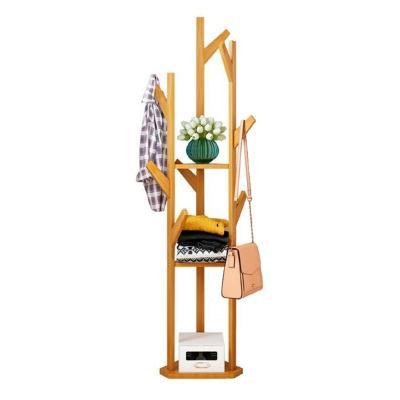 Perchero de bamboo de 3 brazos