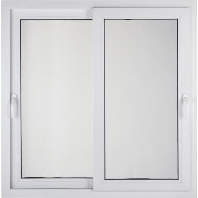Ventana corredera 100x100 cm termopanel PVC blanco