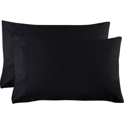 Set funda almohada 180 hilos negro 52x91 cm