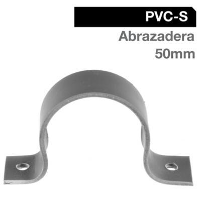 Abrazadera Pack PVC-S 50mm Gris 5u