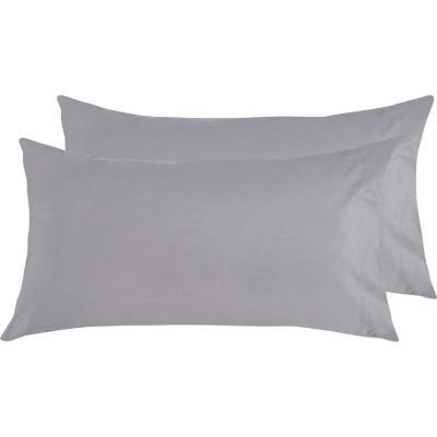 Set funda almohada gris 52x76 cm