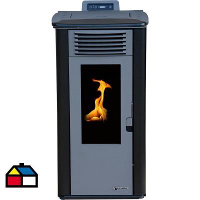 Calefactor a pellet negro